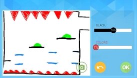 Screenshot eines gezeichneten Spiels in der App Draw Your Game.