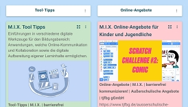 Screenshot einer digitalen Pinnwand mit TaskCards.